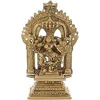 Kapasi Handicrafts Brass Goddess Durga Ma / Ambama Idol Statues (8 X 5 X 13 Cm, Gold)
