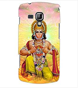 ColourCraft Lord Hanuman Design Back Case Cover for SAMSUNG GALAXY S DUOS 2 S7582