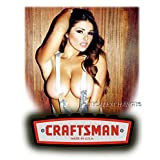 CRAFTSMAN BUSTY GIRL STICKER TOOLBOX GREAT FOR SNAP ON KENWORTH SEXY GIRL USA DECALS LAPTOP MIRROR