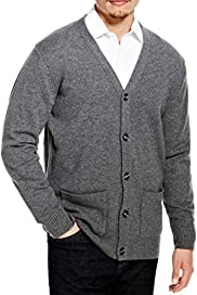 Blue Harbour Extrafine Pure Lambswool V-Neck Cardigan [T30-2419B-S]