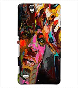 PrintDhaba Graffiti D-4960 Back Case Cover for SONY XPERIA C4 (Multi-Coloured)