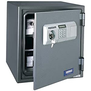 Brink 39 s home security 5084d 1 hour digital steel fire safe for Brinks home security