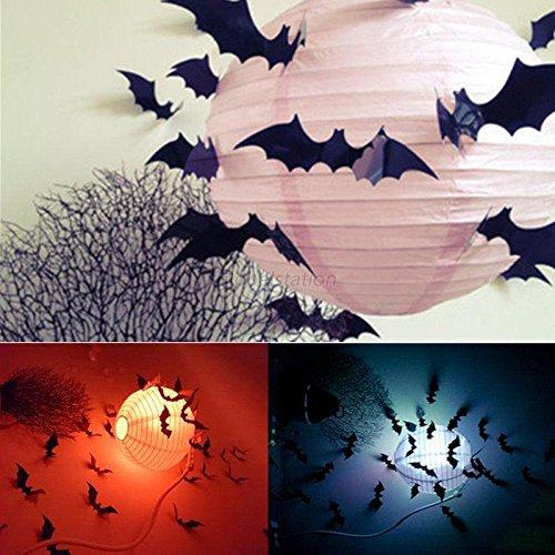 [Hot 12Pcs Black 3D DIY PVC Bat Wall Sticker Decal Halloween Festival Decoration] (Alice In Wonderland Costume Ideas Diy)