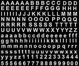 Block Alphabet 3/16\
