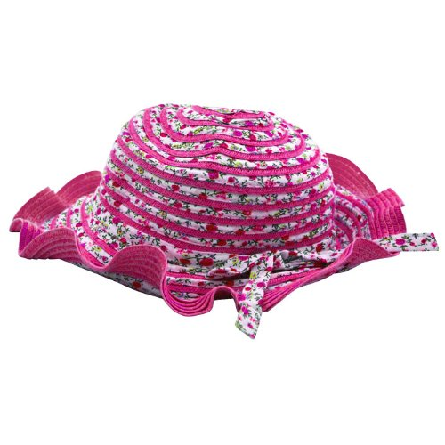 Fuchsia Cotton Flower Tea Party Hat