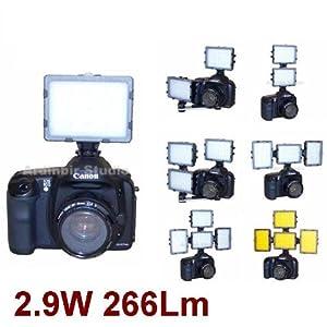 Camera Continuous LED Light for Leica D-lux 4, D-lux 3, S2, V-lux 1, M9, Digilux 3, D Lux3, Fujifilm Finepix S2 Pro, S3 Pro, S5 Pro