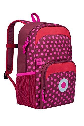 Lssig-Mini-Backpack-Big-Kinderrucksack-Kindergartentasche-Kindergarten-Kleinkind-Kind-Vorschule-mit-verstellbarem-Brustgurt-Namensschild-Utensilientasche-isolierte-Tasche-vorn-Dottie-Red