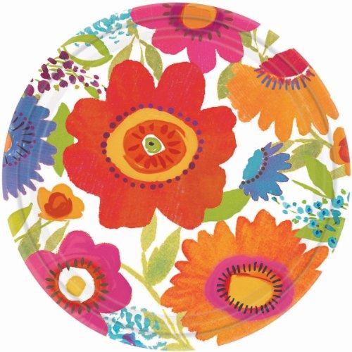 """Dinner Plates 10-1/2"""" 8/Pkg-Floral Splash"""