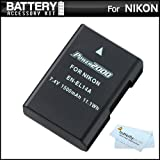 Replacement EN-EL14a EN-EL14 Ultra High Capacity Li-ion Battery For Nikon D5300 D3300 D5100 D5200 D3100 Nikon...