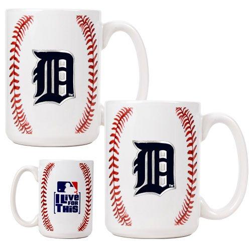 Detroit Tigers Mlb 2Pc Ceramic Gameball Mug Set - Primary Logo