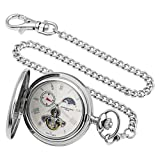 Charles-Hubert, Paris Stainless Steel Automatic Pocket Watch