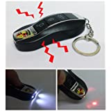 Fake Car Remote Control Shock Keychain With Laser And LED Light