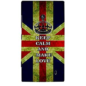 Skin4gadgets Keep Calm and MAKE LOVE - Colour - UK Flag Phone Skin for NOKIA LUMIA 525