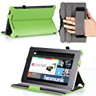 MoKo Slim-Fit Multi-angle Folio Cover Case for Google Nexus 7 Android Tablet by ASUS, GREEN (with Smart Cover Auto Wake/Sleep Feature)