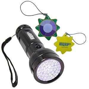 HQRP Professional Leak Detection / Urine Detector Ultraviolet Flashlight / Blacklight 390 nM 51 UV LED plus HQRP UV Meter
