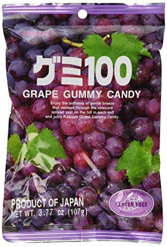 Japanese Fruit Gummy Candy from Kasugai - Grape - 107g