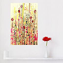 My Wonderful Walls Watercolor Flower Garden Art Wall Decal Samsara by Sylvie Demers (M)
