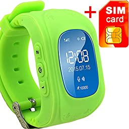 GBD GPS Tracker Smart Watch for Kids with Sim Card Wrist Smartwatch Phone Anti-lost SOS Gprs Children Bracelet with Parents Control App for iOS Android Smartphone