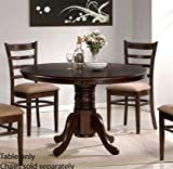 Dining Table with Solid Wood Top Espresso Finish Picture