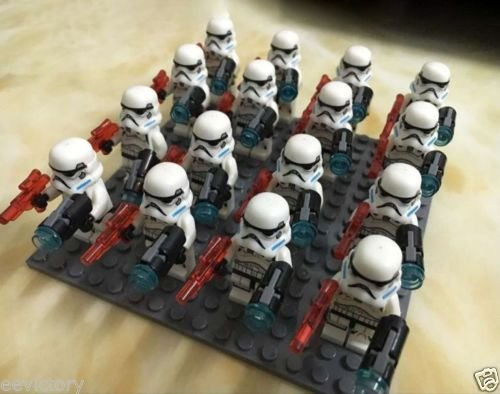 [16 pcs MiniFigures Building Blocks Toys Clone Trooper] (Home Made Video Game Costumes)