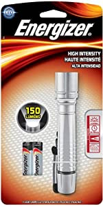 Energizer High Intensity LED Flashlight (150 Lumens), Silver