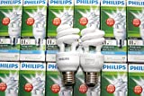 Genuine Philips SPIRAL Energy Saver Light Bulb 11w = 60W E27 cap Cap COOL WHITE White EXTRA BRIGHT, COOL WHITE DAYLIGHT 6500K