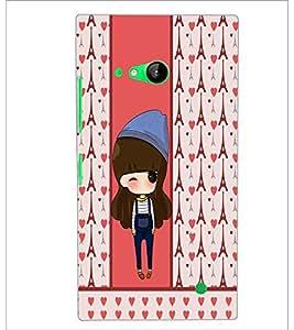 PrintDhaba Cute Doll D-5874 Back Case Cover for NOKIA LUMIA 730 (Multi-Coloured)