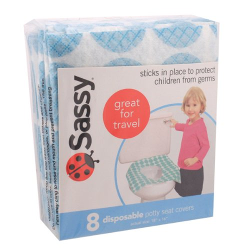Sassy Disposable Potty Seat Covers-8 Pack- Great For Traveling!