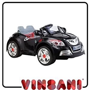 Kids Ride On Black Cabriolet Kids Electric Battery Ride on 6V Car with Remote Control B28C