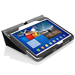 MoKo Samsung Galaxy Tab 3 10.1 Case - Slim Folding Cover Case for Samsung Galaxy Tab 3 10.1 Inch GT-P5200 / GT-P5210 Android Tablet BLACK (with Smart Auto Wake / Sleep Feature)