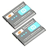 DSTE® 2pcs NP-BN1 Replacement Li-ion Battery for Sony Cyber-shot DSC-QX10, DSC-QX100, DSC-T99, DSC-T110, DSC-TF1, DSC-TX5, DSC-TX7, DSC-TX9, DSC-TX10, DSC-TX20, DSC-TX30 etc...