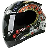 Torc Player with Blinc Bluetooth Adult Prodigy T-10B Sports Bike Motorcycle Helmet – Black / Medium