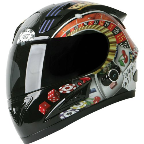 Torc Player with Blinc Bluetooth Adult Prodigy T-10B Sports Bike Motorcycle Helmet – Black / Medium