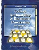 img - for Gregg College Keyboarding and Document Processing for Windows: Lessons 1-60 book / textbook / text book