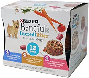 Beneful IncrediBites for Small Dogs - 12 Pk Beef, Chicken & Salmon