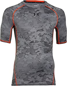 Under Armour Men's UA HeatGear Armour Printed Short Sleeve Compression Shirt