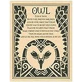 Owl Prayer Parchment Poster