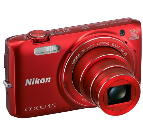 Nikon COOLPIX S6800 16 MP Wi-Fi CMOS Digital Camera with 12x Zoom NIKKOR Lens and 1080p HD Video (Red) Discount