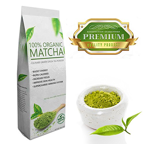 Deluxe Matcha (16oz) - Premium Quality Green Tea Powder - 100% Organic - Perfect for Beverages, Cakes and Culinary Delights, Grade A (Honey Delight Tomato Seeds compare prices)