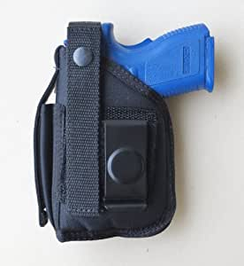 "Hip Holster for Springfield XD Subcompact, 9mm & 40 with 3"" Barrel and Underbarrel Laser"