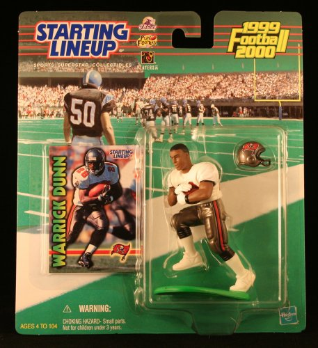 WARRICK DUNN / TAMPA BAY BUCCANEERS 1999-2000 NFL Starting Lineup Action Figure & Exclusive NFL Collector Trading Card - 1