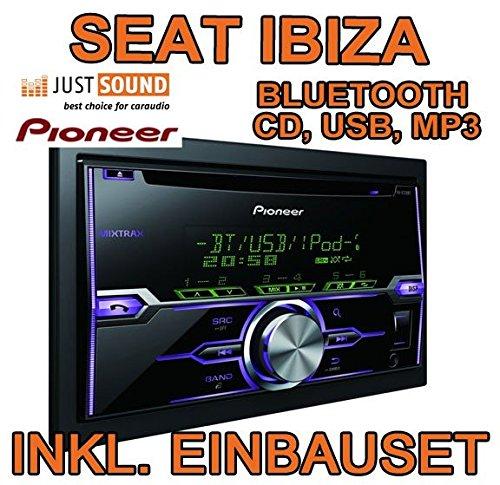 Seat Ibiza 6J - Light Grey - Pioneer FH-X720BT - 2DIN Bluetooth USB - Autoradio Einbauset