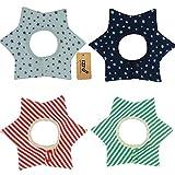 iZiv(TM) Baberos del Bebé - Paquete de 4 Diseños con 4 Capas Impermeables para niño 0-3 años (Color-1)