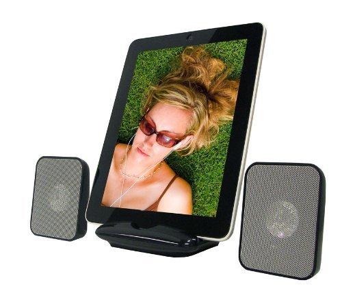 Supersonic IQ-1308 Portable Stereo Speaker for iPad MID/TABLET& Any Other Music Player at Electronic-Readers.com