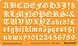 15mm Old English Lettering Letters Art Craft Guide Drawing Drafting Template Stencil Metric