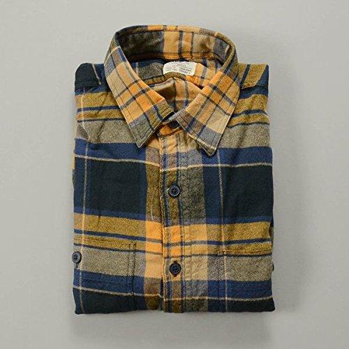 (ジェイクルー) J.CREW ウォッシュドフランネルワークシャツ / ブルーゴールド [並行輸入品]