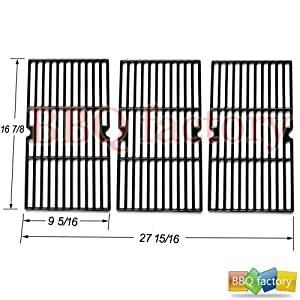 68763 Porcelain Cast Iron Cooking Grid Grate Replacement for Select Gas Grill Models by... by bbq factory