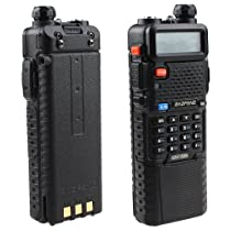 UV-5R Dual Band Transceiver 128 Channels UHF/VHF Radio w/ Upgrade Version 3800mah Battery + free earpiece,Built-in VOX Function,136-174/400-480Mhz