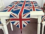 おしゃれ ユニオンジャック テーブルランナー 英国 国旗 テーブル クロス センター マット (180cm1枚・ランチョンマット4枚セット) …