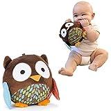 KingMas Cute Animal Ball shaped Stuffed Soft Toy Bell Rattle Gift Baby Kids - Owl